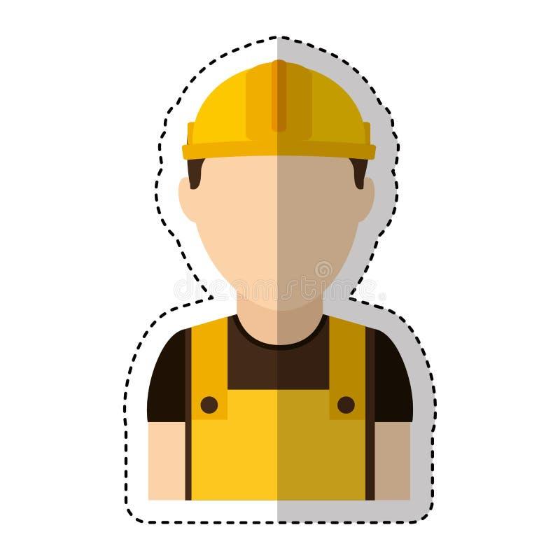 Icono del avatar de la construcción del constructor libre illustration