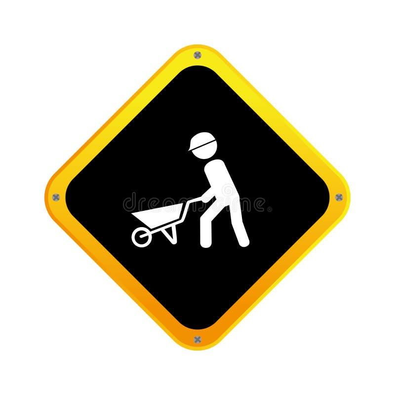 Icono del avatar del trabajador de construcción libre illustration
