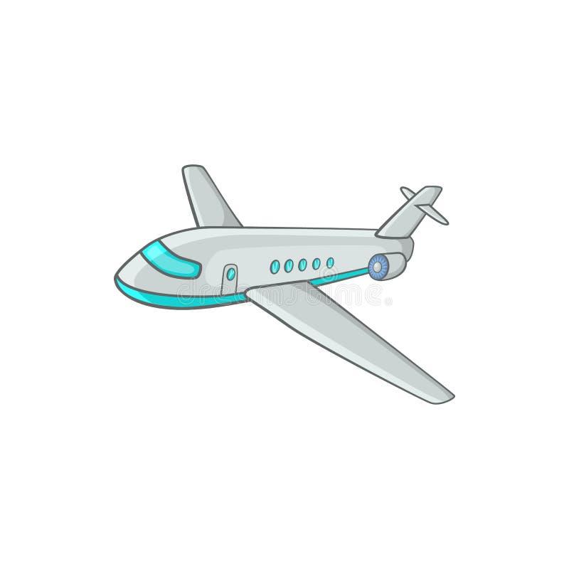 Icono del avión de pasajeros del pasajero, estilo de la historieta stock de ilustración