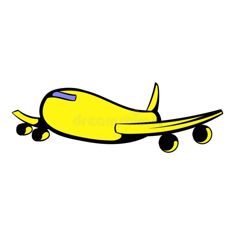 Icono del avión de pasajeros del pasajero, historieta del icono ilustración del vector