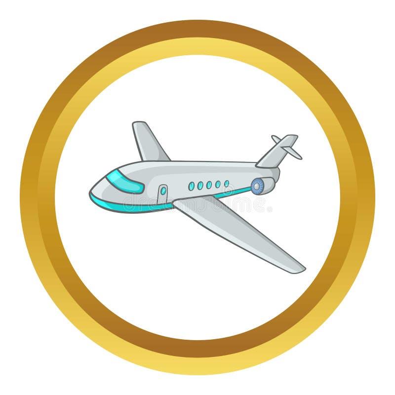 Icono del avión de pasajeros del pasajero ilustración del vector