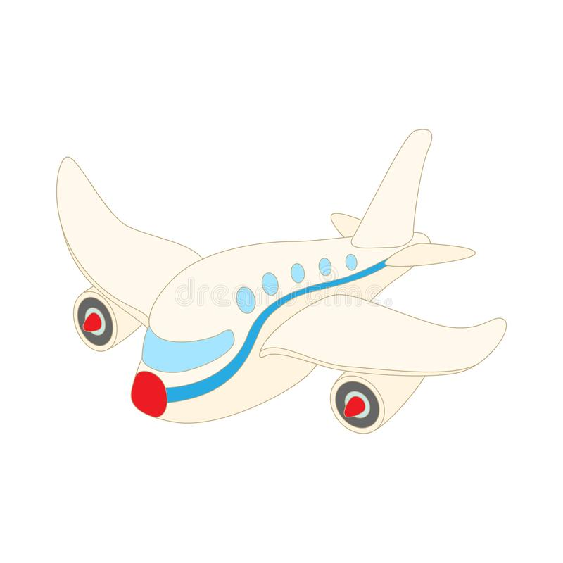 Icono del avión de pasajeros del pasajero, estilo de la historieta ilustración del vector