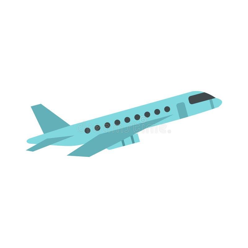 Icono del avión de pasajeros del pasajero, estilo plano ilustración del vector