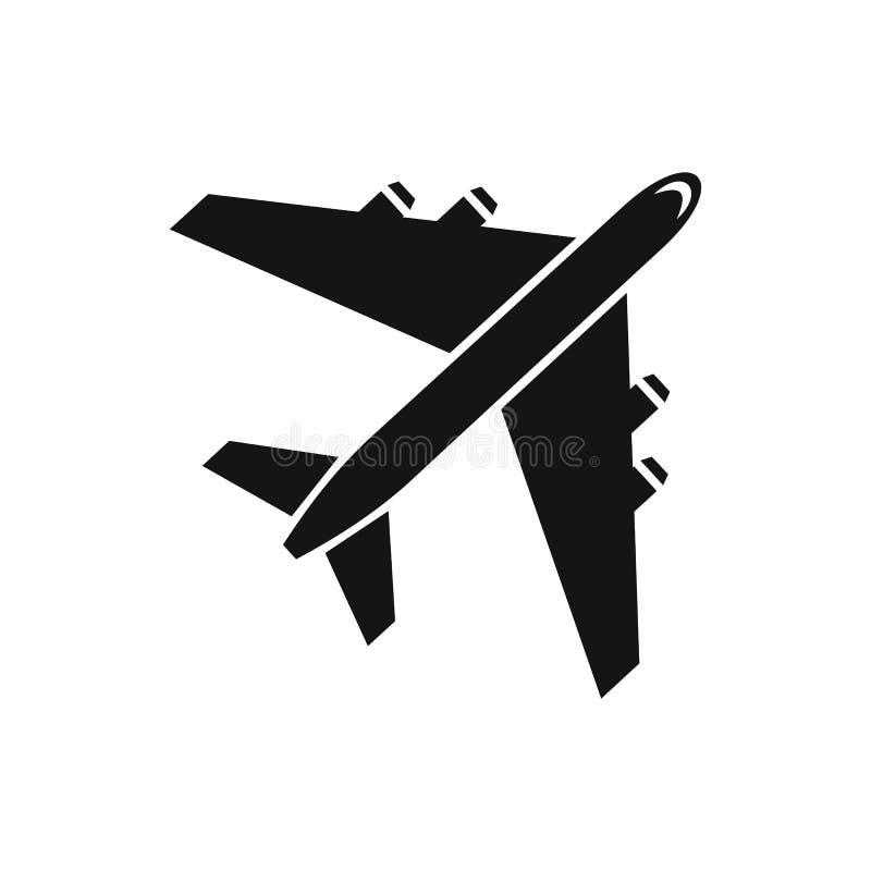 Icono del avión de pasajeros del pasajero, estilo simple libre illustration