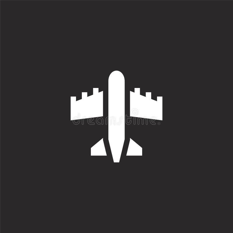 Icono del avi?n Icono llenado del avión para el diseño y el móvil, desarrollo de la página web del app icono del avión del transp libre illustration