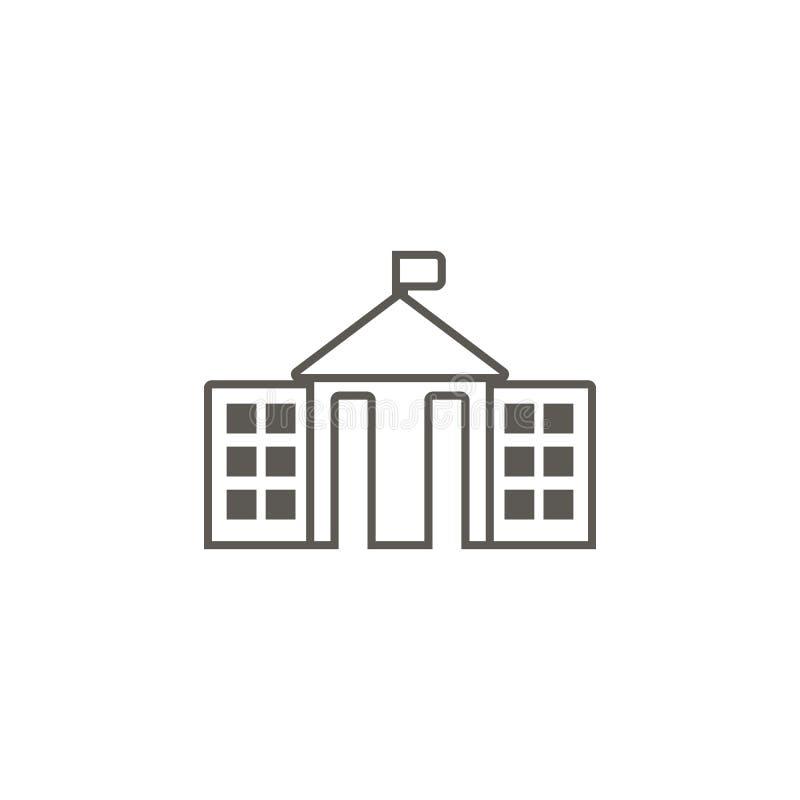Icono del ayuntamiento Ejemplo simple del elemento del mapa y del concepto de la navegaci?n Icono del ayuntamiento Concepto 6 de  stock de ilustración
