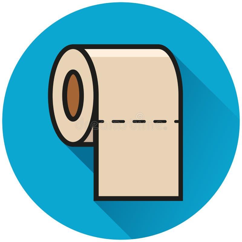 Icono del azul del círculo del papel higiénico libre illustration