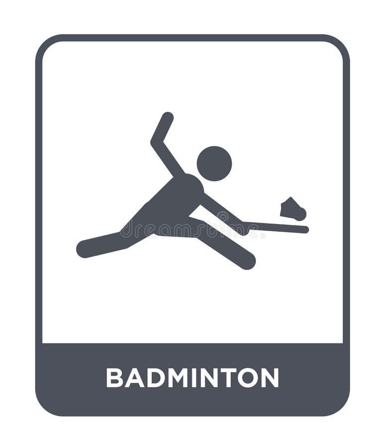 icono del bádminton en estilo de moda del diseño icono del bádminton aislado en el fondo blanco plano simple y moderno del icono  ilustración del vector