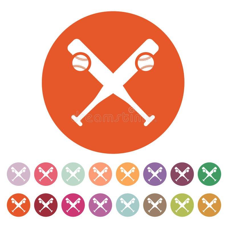 Icono del béisbol Símbolo del deporte plano ilustración del vector