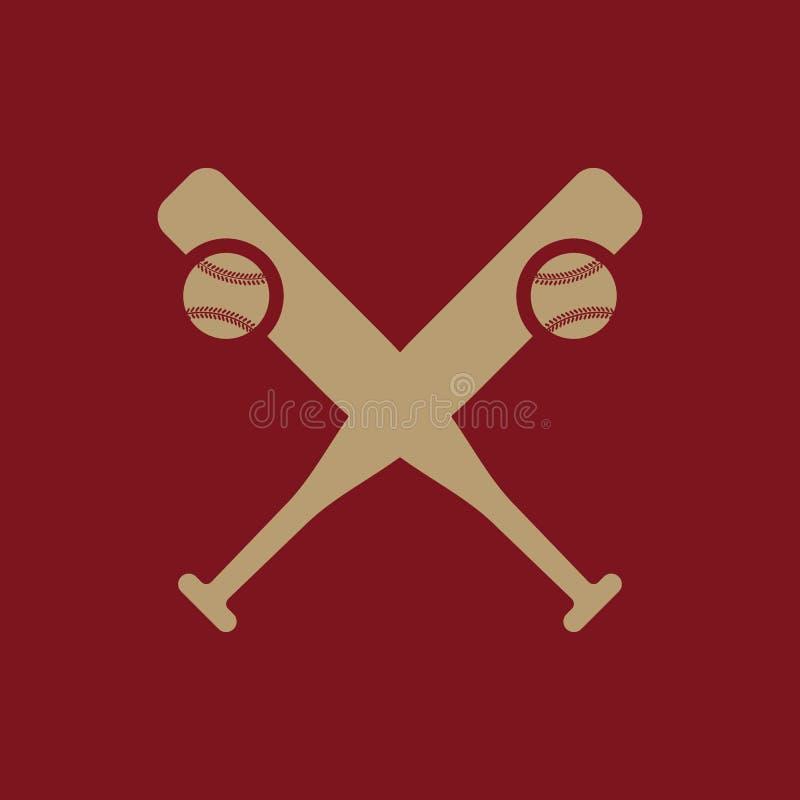 Icono del béisbol Símbolo del deporte plano libre illustration