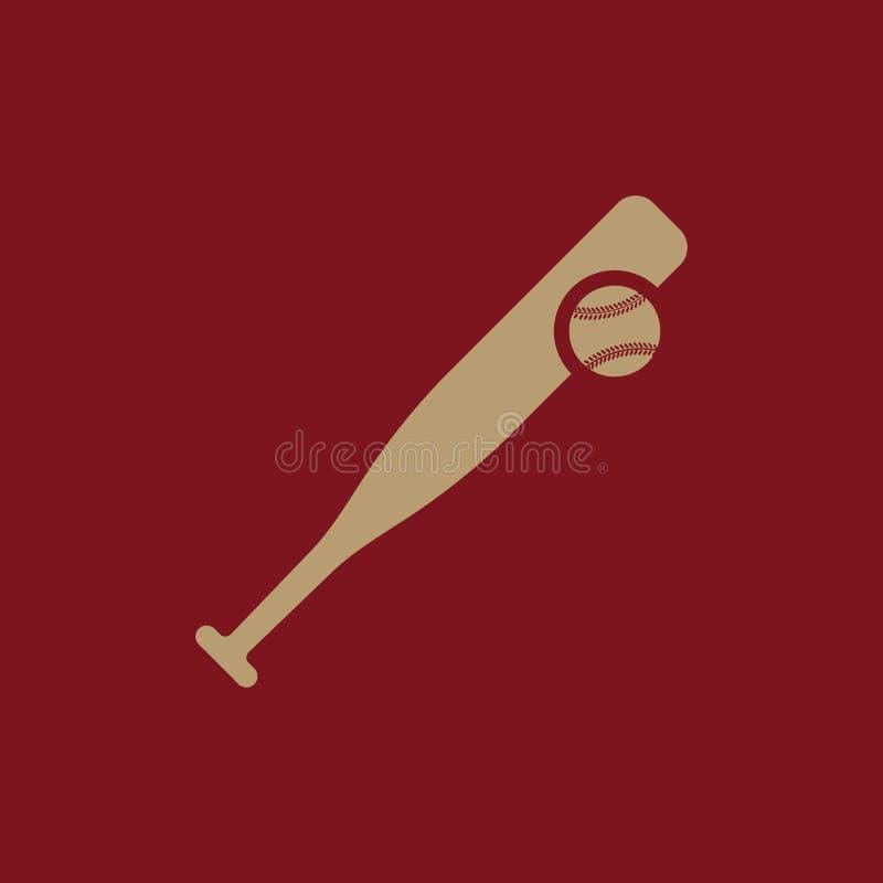 Icono del béisbol Símbolo del juego plano stock de ilustración