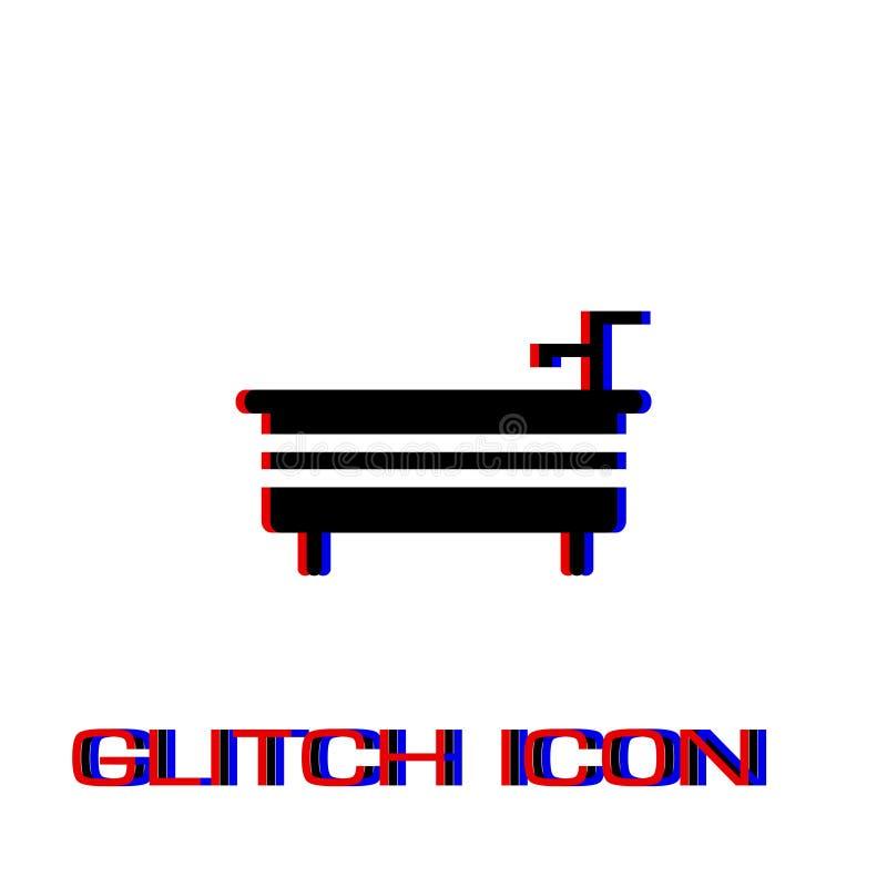 Icono del ba?o plano stock de ilustración