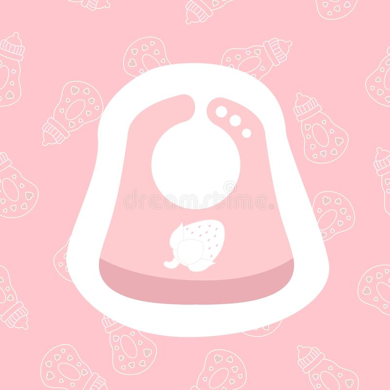 Icono del babero del beb? Ejemplo plano del vector del diseño del símbolo del babero del niño Icono lindo para la web ilustración del vector