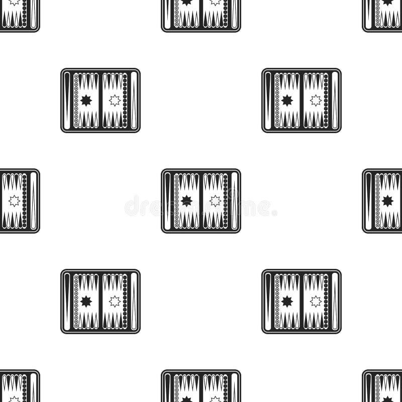 Icono del backgammon en estilo negro aislado en el fondo blanco Ejemplo del vector de la acción del modelo de los juegos de mesa libre illustration