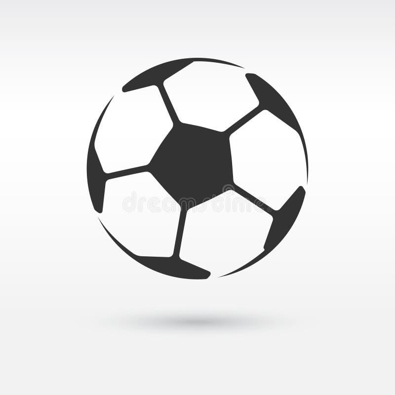 Icono del balón del balompié o de fútbol ilustración del vector
