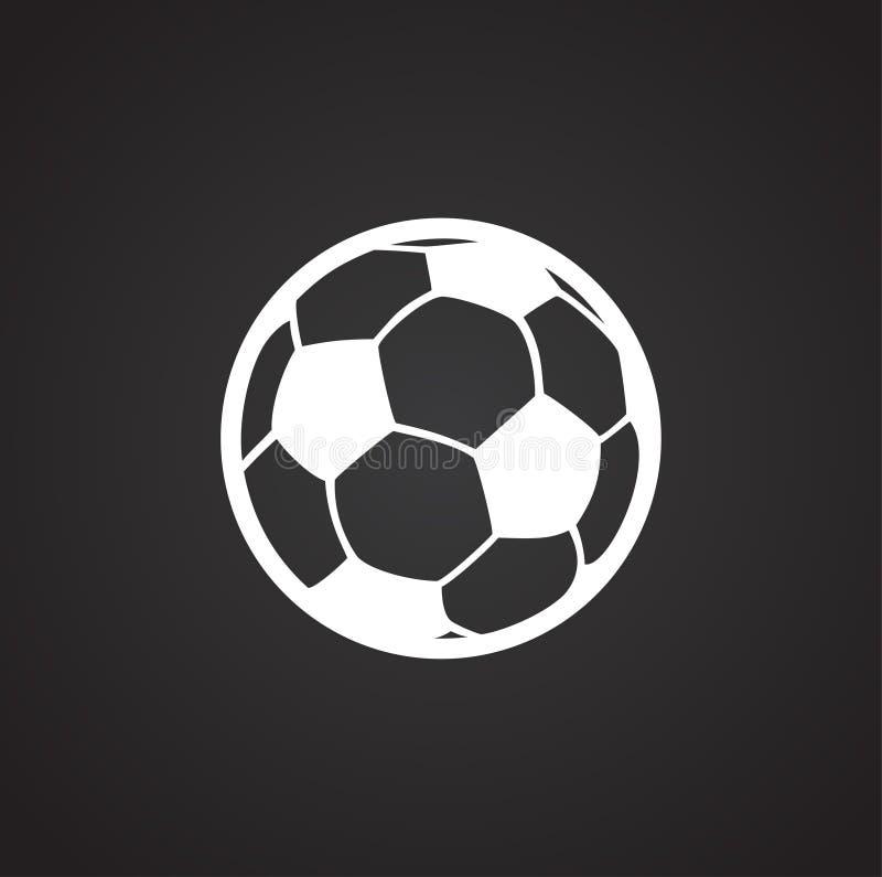 Icono del balón de fútbol en el fondo blanco para el gráfico y el diseño web, muestra simple moderna del vector Concepto del Inte libre illustration