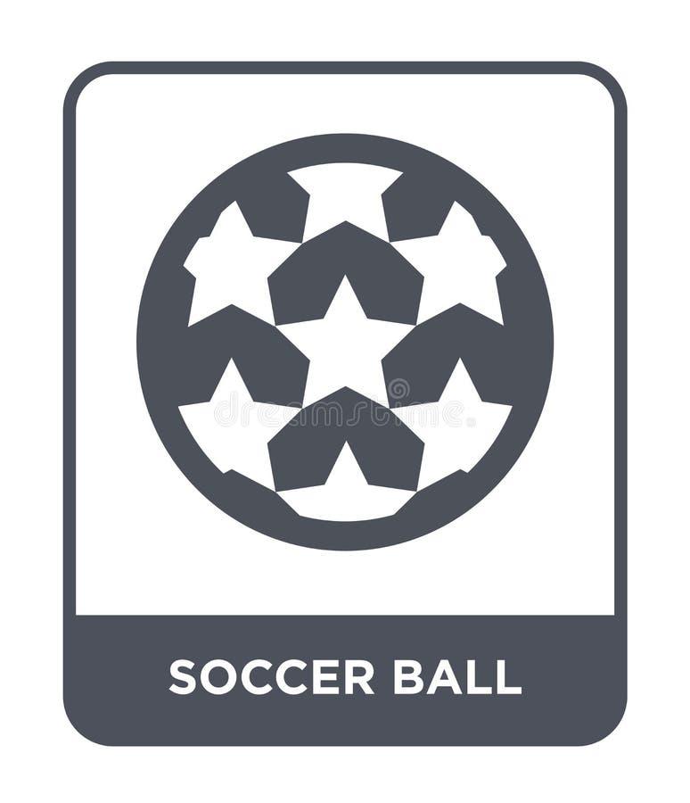icono del balón de fútbol en estilo de moda del diseño Icono del balón de fútbol aislado en el fondo blanco icono del vector del  ilustración del vector