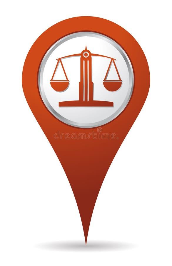 Icono del balance del abogado de la localización libre illustration