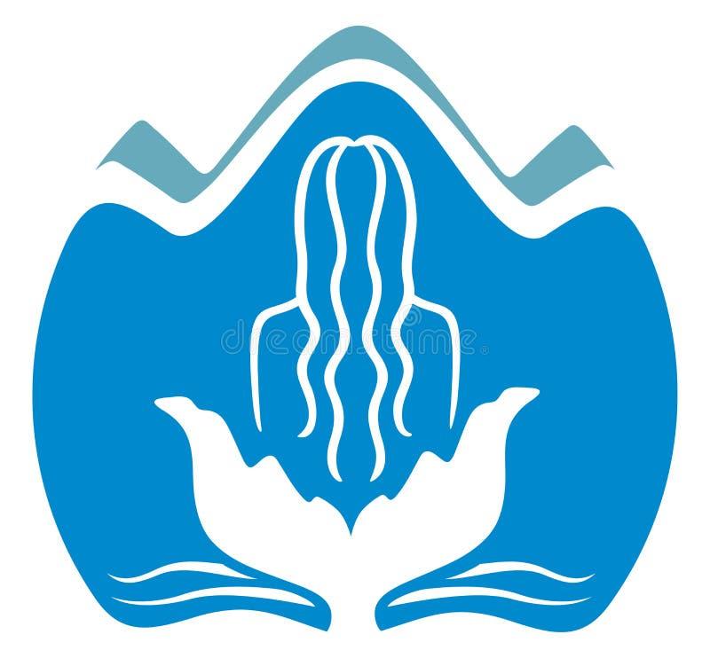 Icono del balneario stock de ilustración