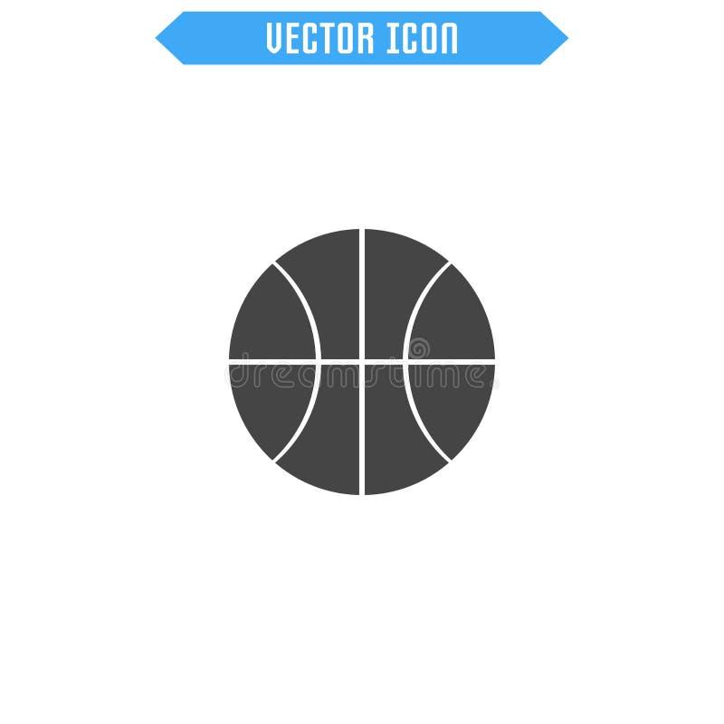 Icono del baloncesto Icono de la bola stock de ilustración