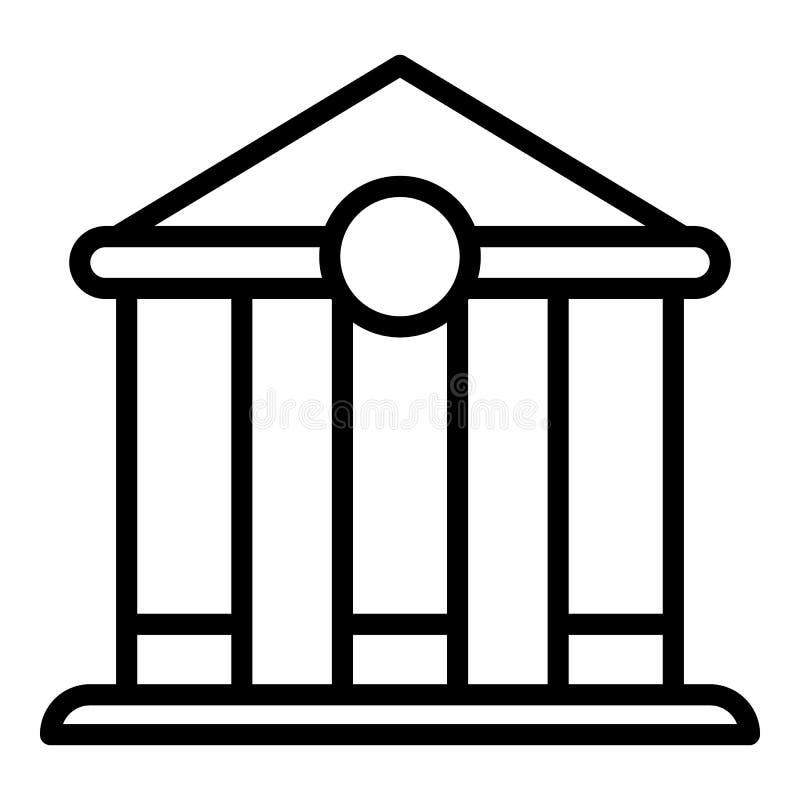 Icono del banco de hipoteca, estilo del esquema ilustración del vector