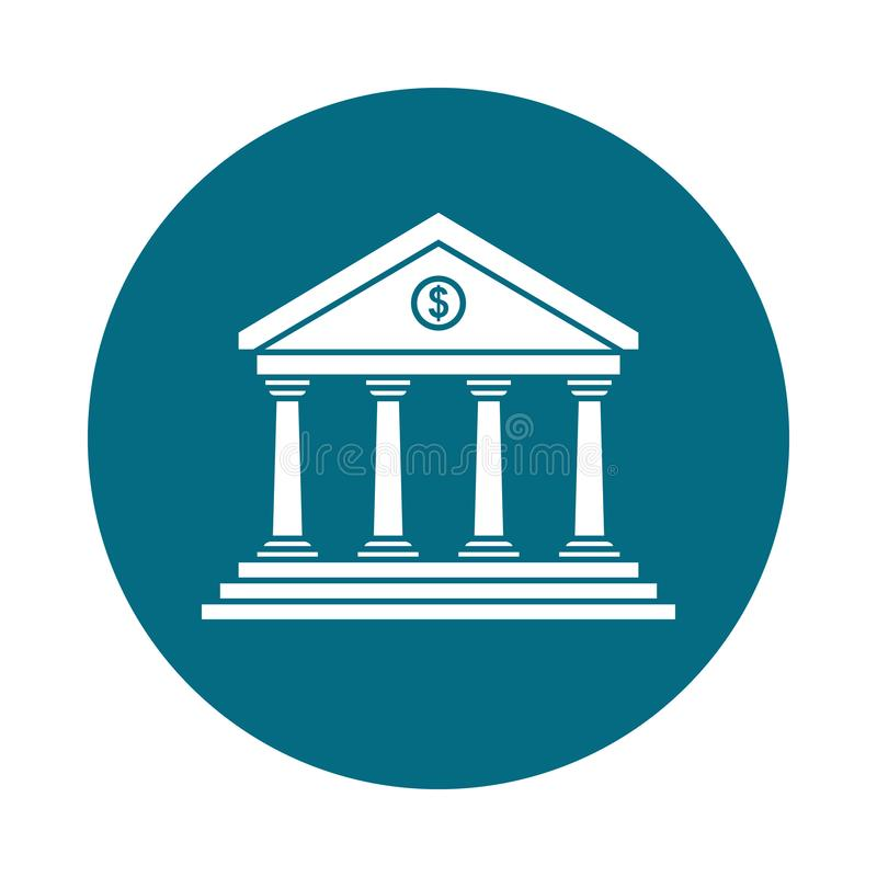 Icono del banco en el c?rculo libre illustration