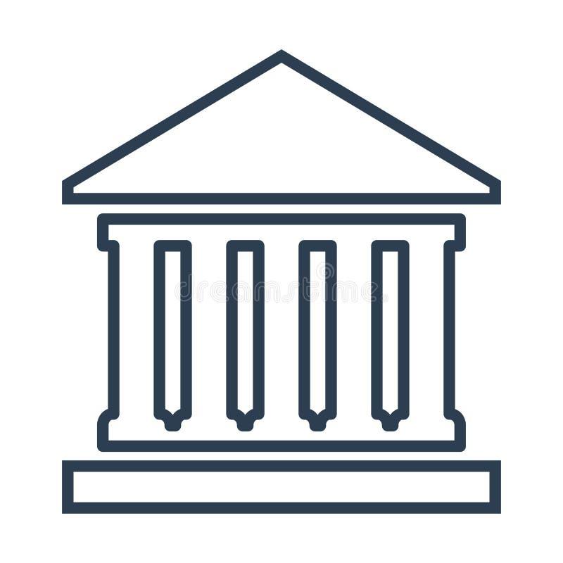Icono del banco en el fondo blanco libre illustration