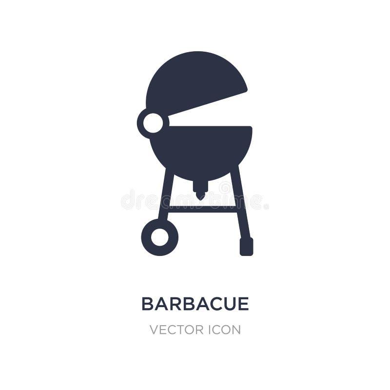 icono del barbacue en el fondo blanco Ejemplo simple del elemento de la actividad y del concepto de las aficiones libre illustration