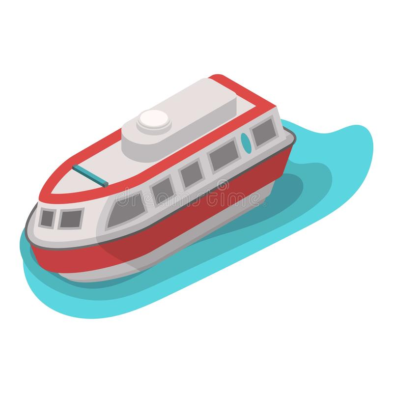 Icono del barco del agua del rescate, estilo isométrico libre illustration
