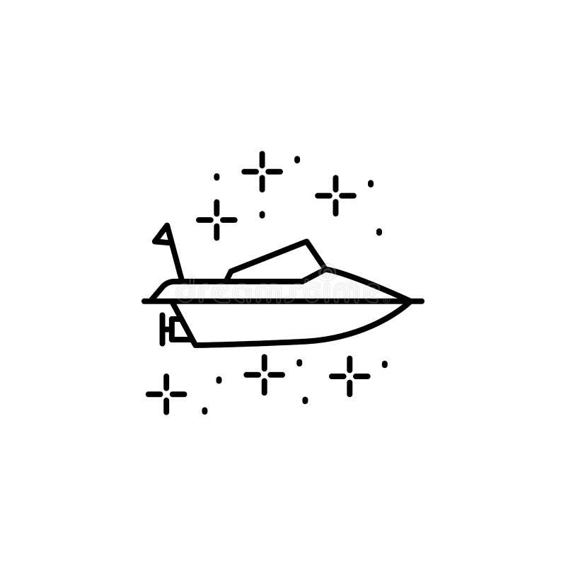 Icono del barco de buceo Elemento del icono de buceo libre illustration