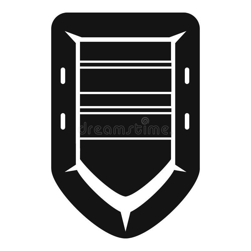 Icono del barco de goma del rescate, estilo simple libre illustration