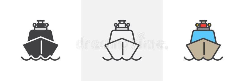 Icono del barco de la nave ilustración del vector