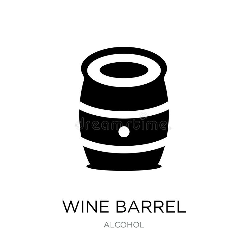 icono del barril de vino en estilo de moda del diseño icono del barril de vino aislado en el fondo blanco icono del vector del ba ilustración del vector