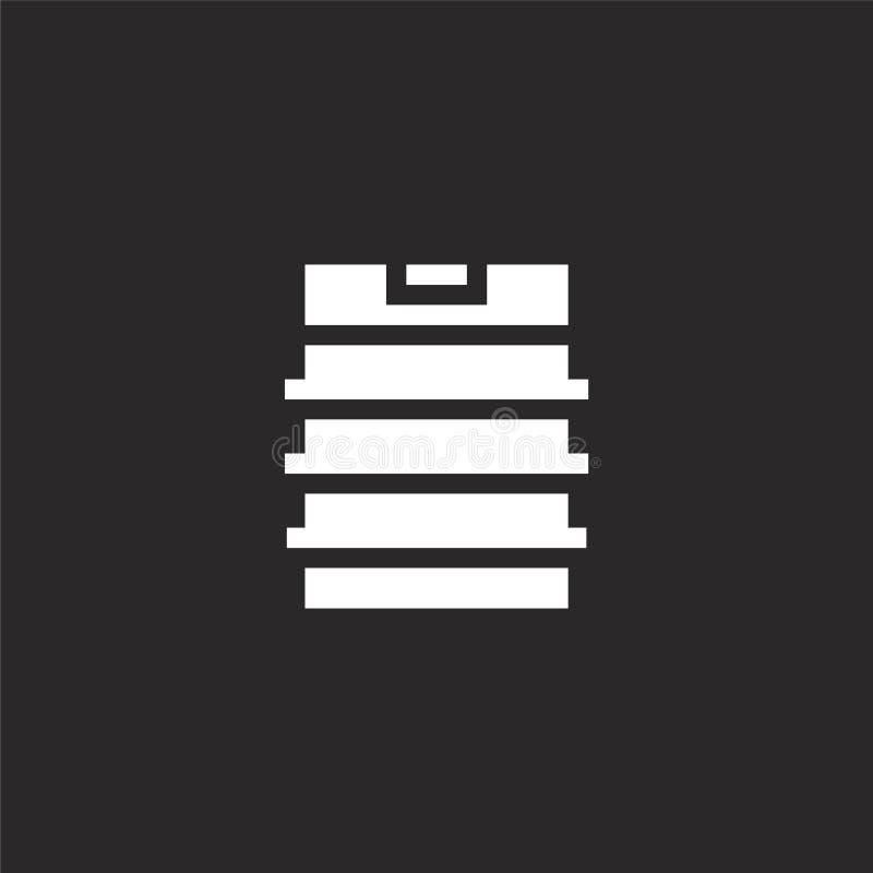Icono del barrilete Icono llenado del barrilete para el diseño y el móvil, desarrollo de la página web del app Icono del barrilet ilustración del vector