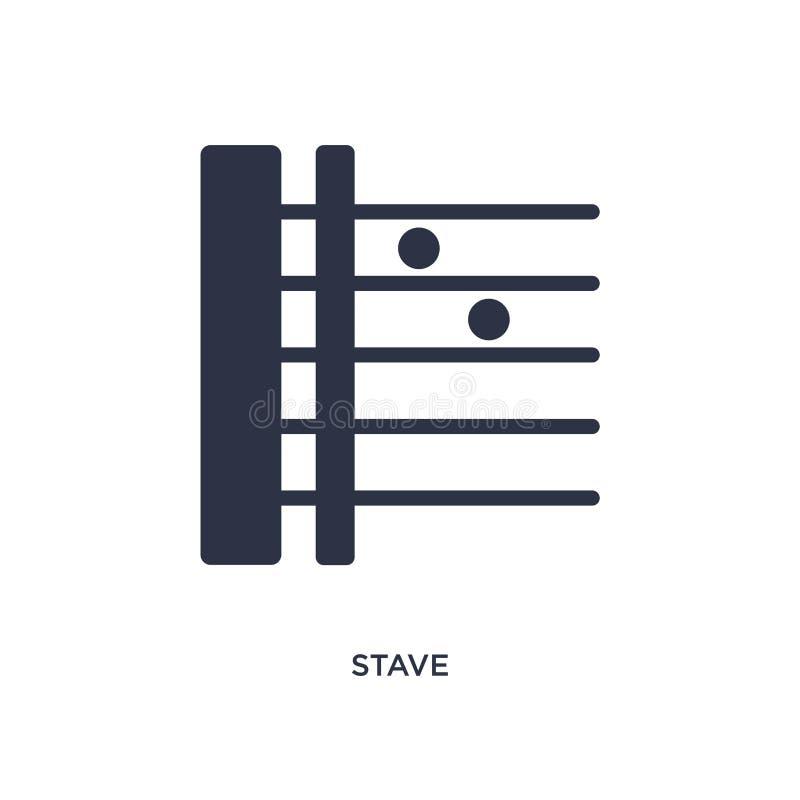 icono del bastón en el fondo blanco Ejemplo simple del elemento de la música y del concepto de los medios stock de ilustración