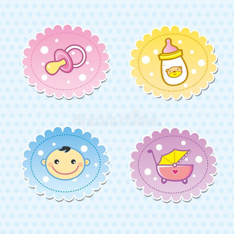 Icono del bebé ilustración del vector