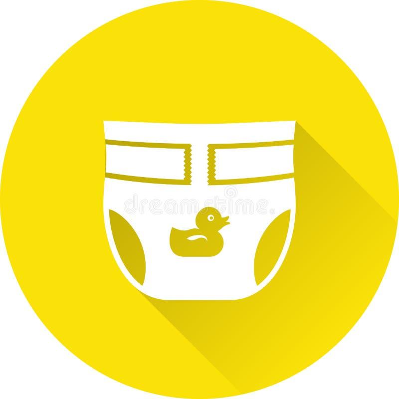 Icono del bebé del pañal Ilustración del vector ilustración del vector