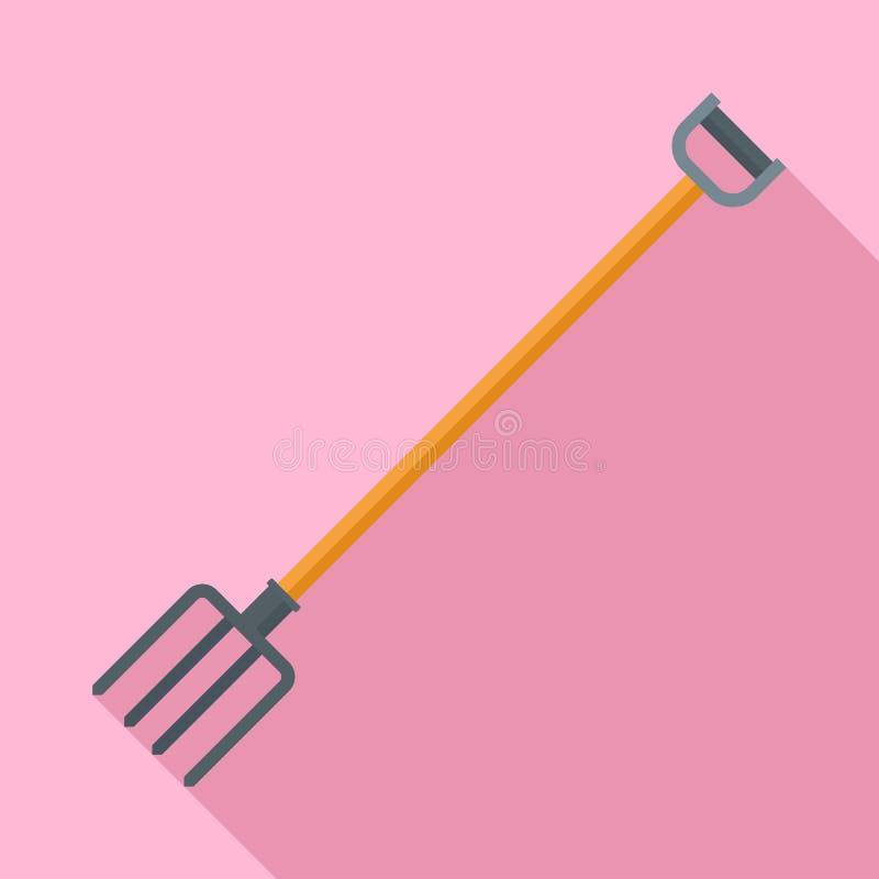 Icono del bieldo del jardín, estilo plano ilustración del vector