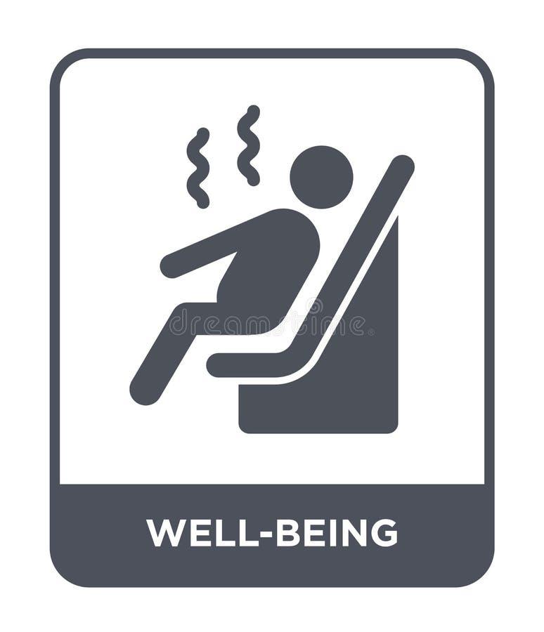icono del bienestar en estilo de moda del diseño icono del bienestar aislado en el fondo blanco icono del vector del bienestar si libre illustration