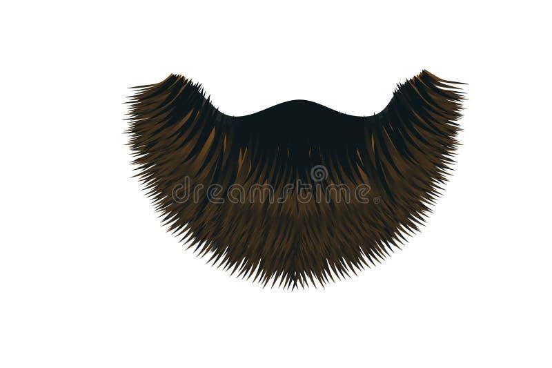 Icono del bigote en el fondo blanco stock de ilustración