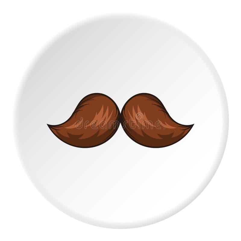 Icono del bigote, estilo de la historieta ilustración del vector
