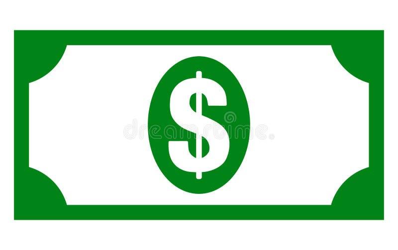 Icono del billete de banco de los Usd del vector ilustración del vector