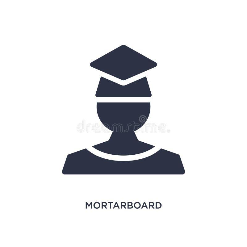 icono del birrete en el fondo blanco Ejemplo simple del elemento del concepto de la educación 2 libre illustration