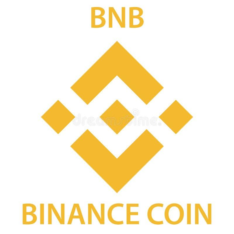 Icono del blockchain del cryptocurrency de la moneda de Binance Dinero electrónico, de Internet virtual o símbolo del cryptocoin, libre illustration