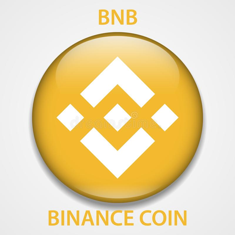 Icono del blockchain del cryptocurrency de la moneda de Binance Dinero electrónico, de Internet virtual o símbolo del cryptocoin, ilustración del vector