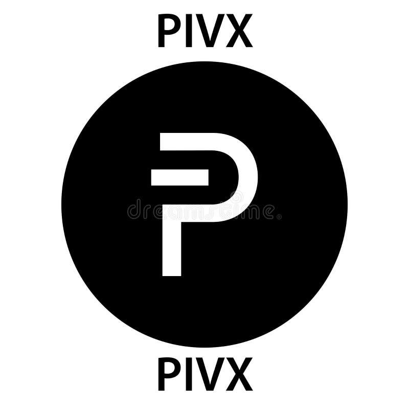 Icono del blockchain del cryptocurrency de la moneda de PIVX Dinero electrónico, de Internet virtual o símbolo del cryptocoin, lo libre illustration
