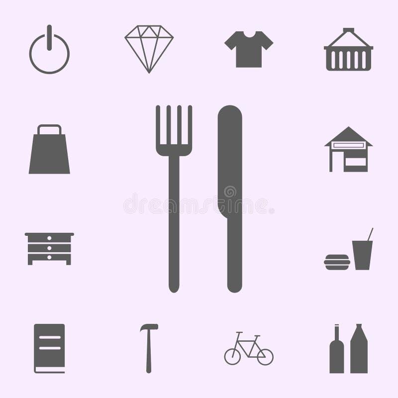 icono del bocado-lugar muestras del sistema universal de los iconos de los pernos para la web y el m?vil stock de ilustración