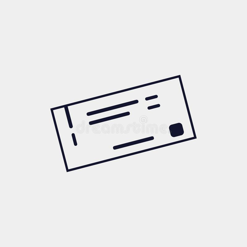 icono del boleto, ejemplo del vector Vector plano del icono stock de ilustración