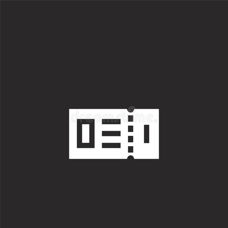 Icono del boleto Icono llenado del boleto para el diseño y el móvil, desarrollo de la página web del app icono del boleto de la c ilustración del vector