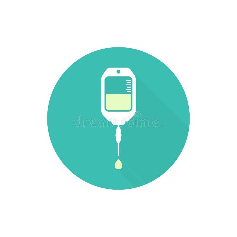 Icono del bolso del intravenoso del vector libre illustration